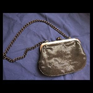 Express Sequin Clutch Handbag with Chain